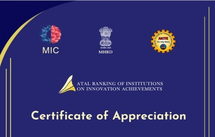 Band 'B' Rank(26-50) Atal Ranking of Institutions on Innovation Achievements